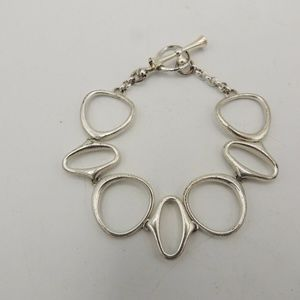 Fossil Large Link Bracelet Toggle Stainless Steel